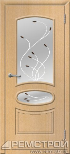 межкомнатные двери, Ремстрой, двери Пенза, двери Заречный, экошпон , модель Сатурн, бук, каталог San Remo, со стеклом, с рисунком, с фьюзингом, глухая, комплект, дверное полотно, коробка, наличник, добор, притворная планка, монтаж, установка, производство, от производителя, фурнитура, ручки, петли, защелки, двери купе.