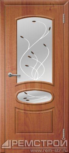 межкомнатные двери, Ремстрой, двери Пенза, двери Заречный, экошпон , модель Сатурн, ольха бавария, каталог San Remo, со стеклом, с рисунком, с фьюзингом, глухая, комплект, дверное полотно, коробка, наличник, добор, притворная планка, монтаж, установка, производство, от производителя, фурнитура, ручки, петли, защелки, двери купе.