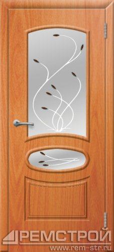 межкомнатные двери, Ремстрой, двери Пенза, двери Заречный, экошпон , модель Сатурн, орех миланский, каталог San Remo, со стеклом, с рисунком, с фьюзингом, глухая, комплект, дверное полотно, коробка, наличник, добор, притворная планка, монтаж, установка, производство, от производителя, фурнитура, ручки, петли, защелки, двери купе.