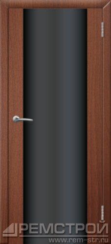 межкомнатные двери, Ремстрой, двери Пенза, двери Заречный, экошпон , модель Hi-Tech-1, орех тисненый, каталог San Remo, со стеклом, с рисунком, с фьюзингом, глухая, комплект, дверное полотно, коробка, наличник, добор, притворная планка, монтаж, установка, производство, от производителя, фурнитура, ручки, петли, защелки, двери купе.