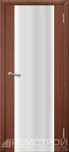 межкомнатные двери, Ремстрой, двери Пенза, двери Заречный, экошпон , модель Оптима-1, орех тисненый, каталог San Remo, со стеклом, с рисунком, с фьюзингом, глухая, комплект, дверное полотно, коробка, наличник, добор, притворная планка, монтаж, установка, производство, от производителя, фурнитура, ручки, петли, защелки, двери купе.