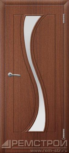 межкомнатные двери, Ремстрой, двери Пенза, двери Заречный, экошпон , модель Грация, орех тисненый, каталог San Remo, со стеклом, с рисунком, с фьюзингом, глухая, комплект, дверное полотно, коробка, наличник, добор, притворная планка, монтаж, установка, производство, от производителя, фурнитура, ручки, петли, защелки, двери купе.