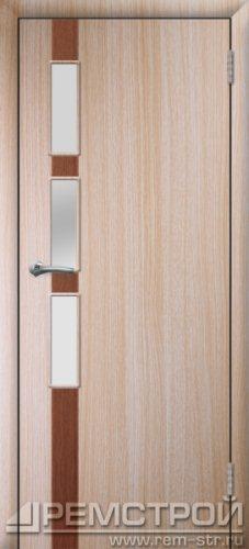 межкомнатные двери, Ремстрой, двери Пенза, двери Заречный, экошпон , модель Европа-1, дуб выбеленный, каталог San Remo, со стеклом, с рисунком, с фьюзингом, глухая, комплект, дверное полотно, коробка, наличник, добор, притворная планка, монтаж, установка, производство, от производителя, фурнитура, ручки, петли, защелки, двери купе.