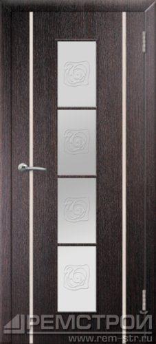 межкомнатные двери, Ремстрой, двери Пенза, двери Заречный, экошпон , модель Европа2, венге, каталог San Remo, со стеклом, с рисунком, с фьюзингом, глухая, комплект, дверное полотно, коробка, наличник, добор, притворная планка, монтаж, установка, производство, от производителя, фурнитура, ручки, петли, защелки, двери купе.
