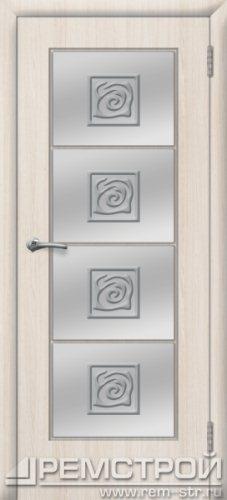 межкомнатные двери, Ремстрой, двери Пенза, двери Заречный, экошпон , модель Вена, белое дерево, каталог San Remo, со стеклом, с рисунком, с фьюзингом, глухая, комплект, дверное полотно, коробка, наличник, добор, притворная планка, монтаж, установка, производство, от производителя, фурнитура, ручки, петли, защелки, двери купе.