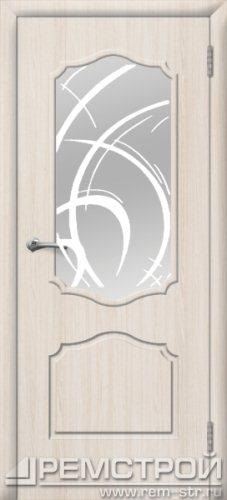 межкомнатные двери, Ремстрой, двери Пенза, двери Заречный, экошпон , модель Кармен, белое дерево, каталог San Remo, со стеклом, с рисунком, с фьюзингом, глухая, комплект, дверное полотно, коробка, наличник, добор, притворная планка, монтаж, установка, производство, от производителя, фурнитура, ручки, петли, защелки, двери купе.