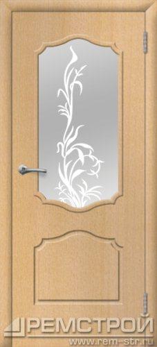 межкомнатные двери, Ремстрой, двери Пенза, двери Заречный, экошпон , модель Кармен, бук, каталог San Remo, со стеклом, с рисунком, с фьюзингом, глухая, комплект, дверное полотно, коробка, наличник, добор, притворная планка, монтаж, установка, производство, от производителя, фурнитура, ручки, петли, защелки, двери купе.