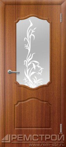 межкомнатные двери, Ремстрой, двери Пенза, двери Заречный, экошпон , модель Кармен, каштан, каталог San Remo, со стеклом, с рисунком, с фьюзингом, глухая, комплект, дверное полотно, коробка, наличник, добор, притворная планка, монтаж, установка, производство, от производителя, фурнитура, ручки, петли, защелки, двери купе.