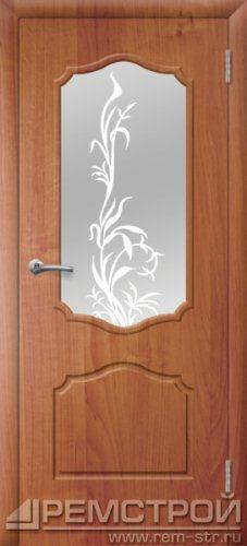 межкомнатные двери, Ремстрой, двери Пенза, двери Заречный, экошпон , модель Кармен, ольха бавария, каталог San Remo, со стеклом, с рисунком, с фьюзингом, глухая, комплект, дверное полотно, коробка, наличник, добор, притворная планка, монтаж, установка, производство, от производителя, фурнитура, ручки, петли, защелки, двери купе.