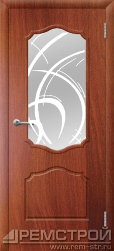межкомнатные двери, Ремстрой, двери Пенза, двери Заречный, экошпон , модель Кармен, орех итальянский, каталог San Remo, со стеклом, с рисунком, с фьюзингом, глухая, комплект, дверное полотно, коробка, наличник, добор, притворная планка, монтаж, установка, производство, от производителя, фурнитура, ручки, петли, защелки, двери купе.