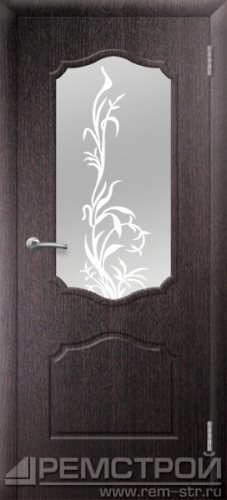межкомнатные двери, Ремстрой, двери Пенза, двери Заречный, экошпон , модель Кармен, венге, каталог San Remo, со стеклом, с рисунком, с фьюзингом, глухая, комплект, дверное полотно, коробка, наличник, добор, притворная планка, монтаж, установка, производство, от производителя, фурнитура, ручки, петли, защелки, двери купе.