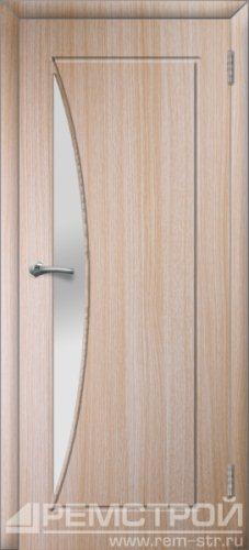 межкомнатные двери, Ремстрой, двери Пенза, двери Заречный, экошпон , модель Луна, дуб выбеленный, каталог San Remo, со стеклом, с рисунком, с фьюзингом, глухая, комплект, дверное полотно, коробка, наличник, добор, притворная планка, монтаж, установка, производство, от производителя, фурнитура, ручки, петли, защелки, двери купе.