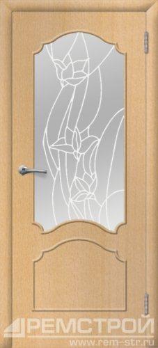 межкомнатные двери, Ремстрой, двери Пенза, двери Заречный, экошпон , модель Глория, бук, каталог San Remo, со стеклом, с рисунком, с фьюзингом, глухая, комплект, дверное полотно, коробка, наличник, добор, притворная планка, монтаж, установка, производство, от производителя, фурнитура, ручки, петли, защелки, двери купе.