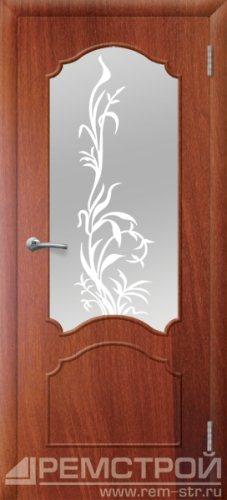 межкомнатные двери, Ремстрой, двери Пенза, двери Заречный, экошпон , модель Глория, орех итальянский, каталог San Remo, со стеклом, с рисунком, с фьюзингом, глухая, комплект, дверное полотно, коробка, наличник, добор, притворная планка, монтаж, установка, производство, от производителя, фурнитура, ручки, петли, защелки, двери купе.