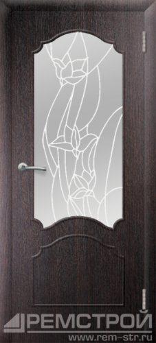 межкомнатные двери, Ремстрой, двери Пенза, двери Заречный, экошпон , модель Глория, венге, каталог San Remo, со стеклом, с рисунком, с фьюзингом, глухая, комплект, дверное полотно, коробка, наличник, добор, притворная планка, монтаж, установка, производство, от производителя, фурнитура, ручки, петли, защелки, двери купе.