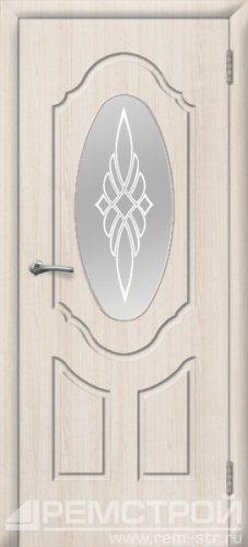 межкомнатные двери, Ремстрой, двери Пенза, двери Заречный, экошпон , модель Прима-1, белое дерево, каталог San Remo, со стеклом, с рисунком, с фьюзингом, глухая, комплект, дверное полотно, коробка, наличник, добор, притворная планка, монтаж, установка, производство, от производителя, фурнитура, ручки, петли, защелки, двери купе.
