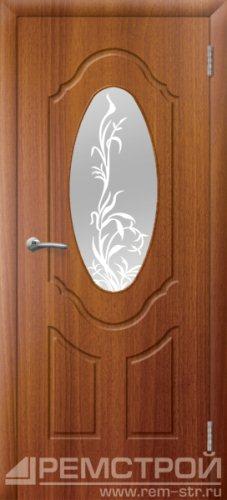 межкомнатные двери, Ремстрой, двери Пенза, двери Заречный, экошпон , модель Прима-1, каштан, каталог San Remo, со стеклом, с рисунком, с фьюзингом, глухая, комплект, дверное полотно, коробка, наличник, добор, притворная планка, монтаж, установка, производство, от производителя, фурнитура, ручки, петли, защелки, двери купе.