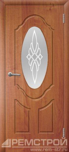 межкомнатные двери, Ремстрой, двери Пенза, двери Заречный, экошпон , модель Прима-1, ольха бавария, каталог San Remo, со стеклом, с рисунком, с фьюзингом, глухая, комплект, дверное полотно, коробка, наличник, добор, притворная планка, монтаж, установка, производство, от производителя, фурнитура, ручки, петли, защелки, двери купе.