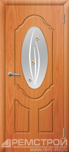 межкомнатные двери, Ремстрой, двери Пенза, двери Заречный, экошпон , модель Прима-1, орех миланский, каталог San Remo, со стеклом, с рисунком, с фьюзингом, глухая, комплект, дверное полотно, коробка, наличник, добор, притворная планка, монтаж, установка, производство, от производителя, фурнитура, ручки, петли, защелки, двери купе.