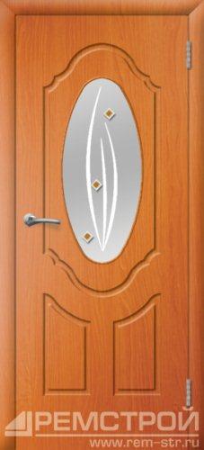 межкомнатные двери, Ремстрой, двери Пенза, двери Заречный, экошпон , модель Прима-1, вишня форема, каталог San Remo, со стеклом, с рисунком, с фьюзингом, глухая, комплект, дверное полотно, коробка, наличник, добор, притворная планка, монтаж, установка, производство, от производителя, фурнитура, ручки, петли, защелки, двери купе.