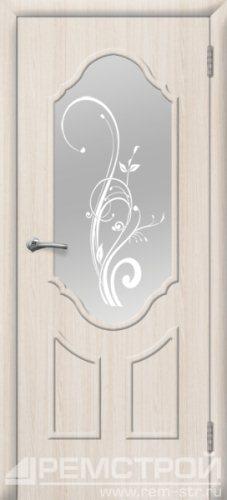 межкомнатные двери, Ремстрой, двери Пенза, двери Заречный, экошпон , модель Прима2, белое дерево, каталог San Remo, со стеклом, с рисунком, с фьюзингом, глухая, комплект, дверное полотно, коробка, наличник, добор, притворная планка, монтаж, установка, производство, от производителя, фурнитура, ручки, петли, защелки, двери купе.