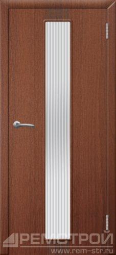 межкомнатные двери, Ремстрой, двери Пенза, двери Заречный, экошпон , модель Оскар, орех тисненый, каталог San Remo, со стеклом, с рисунком, с фьюзингом, глухая, комплект, дверное полотно, коробка, наличник, добор, притворная планка, монтаж, установка, производство, от производителя, фурнитура, ручки, петли, защелки, двери купе.