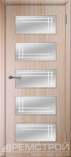 межкомнатные двери, Ремстрой, двери Пенза, двери Заречный, экошпон , модель Барбара, дуб выбеленный, каталог San Remo, со стеклом, с рисунком, с фьюзингом, глухая, комплект, дверное полотно, коробка, наличник, добор, притворная планка, монтаж, установка, производство, от производителя, фурнитура, ручки, петли, защелки, двери купе.