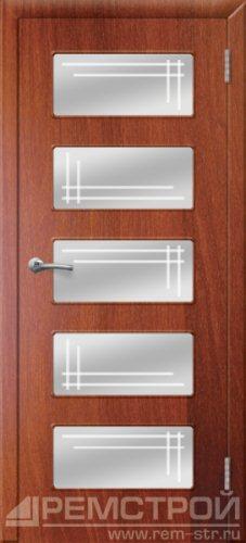 межкомнатные двери, Ремстрой, двери Пенза, двери Заречный, экошпон , модель Барбара, орех итальянский, каталог San Remo, со стеклом, с рисунком, с фьюзингом, глухая, комплект, дверное полотно, коробка, наличник, добор, притворная планка, монтаж, установка, производство, от производителя, фурнитура, ручки, петли, защелки, двери купе.