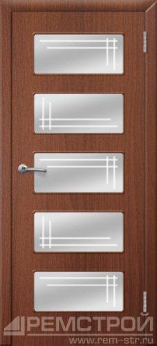 межкомнатные двери, Ремстрой, двери Пенза, двери Заречный, экошпон , модель Барбара, орех тисненый, каталог San Remo, со стеклом, с рисунком, с фьюзингом, глухая, комплект, дверное полотно, коробка, наличник, добор, притворная планка, монтаж, установка, производство, от производителя, фурнитура, ручки, петли, защелки, двери купе.