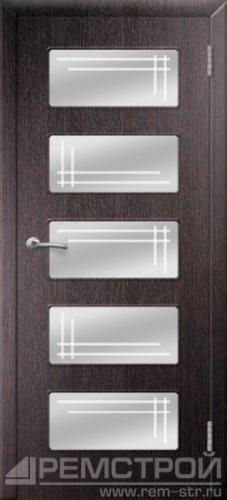 межкомнатные двери, Ремстрой, двери Пенза, двери Заречный, экошпон , модель Барбара, венге, каталог San Remo, со стеклом, с рисунком, с фьюзингом, глухая, комплект, дверное полотно, коробка, наличник, добор, притворная планка, монтаж, установка, производство, от производителя, фурнитура, ручки, петли, защелки, двери купе.