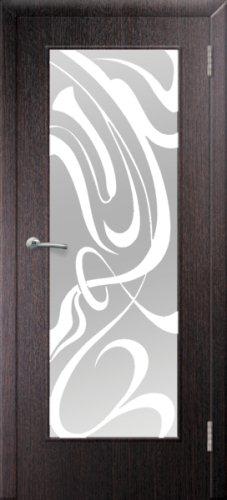 межкомнатные двери, Ремстрой, двери Пенза, двери Заречный, экошпон , модель Фантазия, венге, каталог San Remo, со стеклом, с рисунком, с фьюзингом, глухая, комплект, дверное полотно, коробка, наличник, добор, притворная планка, монтаж, установка, производство, от производителя, фурнитура, ручки, петли, защелки, двери купе.