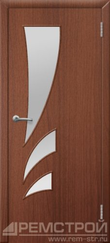межкомнатные двери, Ремстрой, двери Пенза, двери Заречный, экошпон , модель Джаз, орех тисненый, каталог San Remo, со стеклом, с рисунком, с фьюзингом, глухая, комплект, дверное полотно, коробка, наличник, добор, притворная планка, монтаж, установка, производство, от производителя, фурнитура, ручки, петли, защелки, двери купе.