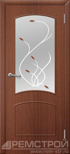 межкомнатные двери, Ремстрой, двери Пенза, двери Заречный, экошпон , модель Классика, орех тисненый, каталог San Remo, со стеклом, с рисунком, с фьюзингом, глухая, комплект, дверное полотно, коробка, наличник, добор, притворная планка, монтаж, установка, производство, от производителя, фурнитура, ручки, петли, защелки, двери купе.