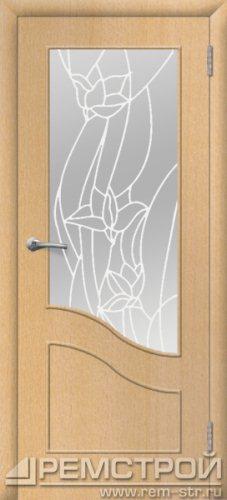 межкомнатные двери, Ремстрой, двери Пенза, двери Заречный, экошпон , модель Шарм, бук, каталог San Remo, со стеклом, с рисунком, с фьюзингом, глухая, комплект, дверное полотно, коробка, наличник, добор, притворная планка, монтаж, установка, производство, от производителя, фурнитура, ручки, петли, защелки, двери купе.