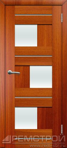 межкомнатные двери, Ремстрой, двери Пенза, двери Заречный, экошпон , модель Твист1, каштан, каталог San Remo, со стеклом, с рисунком, с фьюзингом, глухая, комплект, дверное полотно, коробка, наличник, добор, притворная планка, монтаж, установка, производство, от производителя, фурнитура, ручки, петли, защелки, двери купе.