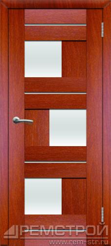межкомнатные двери, Ремстрой, двери Пенза, двери Заречный, экошпон , модель Твист1, орех итальянский, каталог San Remo, со стеклом, с рисунком, с фьюзингом, глухая, комплект, дверное полотно, коробка, наличник, добор, притворная планка, монтаж, установка, производство, от производителя, фурнитура, ручки, петли, защелки, двери купе.