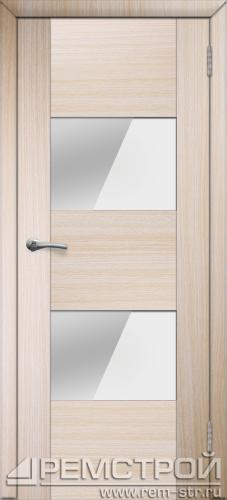 межкомнатные двери, Ремстрой, двери Пенза, двери Заречный, экошпон , модель Твист5, дуб выбеленный, каталог San Remo, со стеклом, с рисунком, с фьюзингом, глухая, комплект, дверное полотно, коробка, наличник, добор, притворная планка, монтаж, установка, производство, от производителя, фурнитура, ручки, петли, защелки, двери купе.