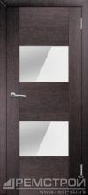 межкомнатные двери, Ремстрой, двери Пенза, двери Заречный, экошпон , модель Твист5, венге, каталог San Remo, со стеклом, с рисунком, с фьюзингом, глухая, комплект, дверное полотно, коробка, наличник, добор, притворная планка, монтаж, установка, производство, от производителя, фурнитура, ручки, петли, защелки, двери купе.