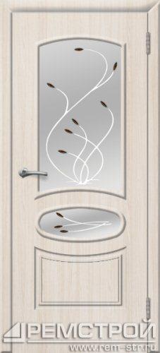 межкомнатные двери, Ремстрой, двери Пенза, двери Заречный, экошпон , модель Сатурн, белое дерево, каталог San Remo, со стеклом, с рисунком, с фьюзингом, глухая, комплект, дверное полотно, коробка, наличник, добор, притворная планка, монтаж, установка, производство, от производителя, фурнитура, ручки, петли, защелки, двери купе.