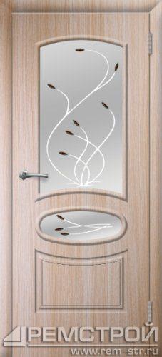 межкомнатные двери, Ремстрой, двери Пенза, двери Заречный, экошпон , модель Сатурн, дуб выбеленный, каталог San Remo, со стеклом, с рисунком, с фьюзингом, глухая, комплект, дверное полотно, коробка, наличник, добор, притворная планка, монтаж, установка, производство, от производителя, фурнитура, ручки, петли, защелки, двери купе.