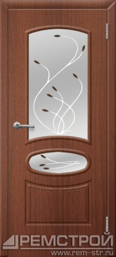 межкомнатные двери, Ремстрой, двери Пенза, двери Заречный, экошпон , модель Сатурн, орех тисненый, каталог San Remo, со стеклом, с рисунком, с фьюзингом, глухая, комплект, дверное полотно, коробка, наличник, добор, притворная планка, монтаж, установка, производство, от производителя, фурнитура, ручки, петли, защелки, двери купе.