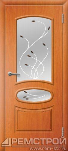 межкомнатные двери, Ремстрой, двери Пенза, двери Заречный, экошпон , модель Сатурн, вишня форема, каталог San Remo, со стеклом, с рисунком, с фьюзингом, глухая, комплект, дверное полотно, коробка, наличник, добор, притворная планка, монтаж, установка, производство, от производителя, фурнитура, ручки, петли, защелки, двери купе.