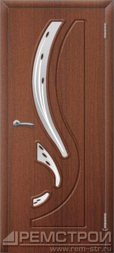 межкомнатные двери, Ремстрой, двери Пенза, двери Заречный, экошпон , модель Фрегат, орех тисненый, каталог San Remo, со стеклом, с рисунком, с фьюзингом, глухая, комплект, дверное полотно, коробка, наличник, добор, притворная планка, монтаж, установка, производство, от производителя, фурнитура, ручки, петли, защелки, двери купе.