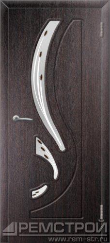 межкомнатные двери, Ремстрой, двери Пенза, двери Заречный, экошпон , модель Фрегат, венге, каталог San Remo, со стеклом, с рисунком, с фьюзингом, глухая, комплект, дверное полотно, коробка, наличник, добор, притворная планка, монтаж, установка, производство, от производителя, фурнитура, ручки, петли, защелки, двери купе.