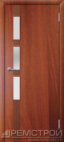межкомнатные двери, Ремстрой, двери Пенза, двери Заречный, экошпон , модель Европа-1, орех итальянский, каталог San Remo, со стеклом, с рисунком, с фьюзингом, глухая, комплект, дверное полотно, коробка, наличник, добор, притворная планка, монтаж, установка, производство, от производителя, фурнитура, ручки, петли, защелки, двери купе.