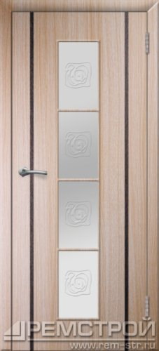 межкомнатные двери, Ремстрой, двери Пенза, двери Заречный, экошпон , модель Европа2, дуб выбеленный, каталог San Remo, со стеклом, с рисунком, с фьюзингом, глухая, комплект, дверное полотно, коробка, наличник, добор, притворная планка, монтаж, установка, производство, от производителя, фурнитура, ручки, петли, защелки, двери купе.