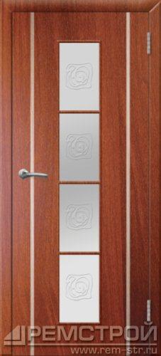 межкомнатные двери, Ремстрой, двери Пенза, двери Заречный, экошпон , модель Европа2, орех итальянский, каталог San Remo, со стеклом, с рисунком, с фьюзингом, глухая, комплект, дверное полотно, коробка, наличник, добор, притворная планка, монтаж, установка, производство, от производителя, фурнитура, ручки, петли, защелки, двери купе.