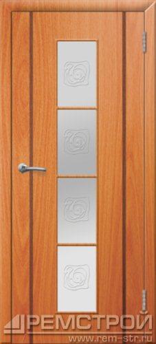 межкомнатные двери, Ремстрой, двери Пенза, двери Заречный, экошпон , модель Европа2, орех миланский, каталог San Remo, со стеклом, с рисунком, с фьюзингом, глухая, комплект, дверное полотно, коробка, наличник, добор, притворная планка, монтаж, установка, производство, от производителя, фурнитура, ручки, петли, защелки, двери купе.