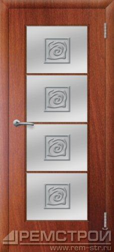 межкомнатные двери, Ремстрой, двери Пенза, двери Заречный, экошпон , модель Вена, орех итальянский, каталог San Remo, со стеклом, с рисунком, с фьюзингом, глухая, комплект, дверное полотно, коробка, наличник, добор, притворная планка, монтаж, установка, производство, от производителя, фурнитура, ручки, петли, защелки, двери купе.
