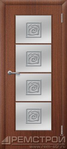 межкомнатные двери, Ремстрой, двери Пенза, двери Заречный, экошпон , модель Вена, орех тисненый, каталог San Remo, со стеклом, с рисунком, с фьюзингом, глухая, комплект, дверное полотно, коробка, наличник, добор, притворная планка, монтаж, установка, производство, от производителя, фурнитура, ручки, петли, защелки, двери купе.
